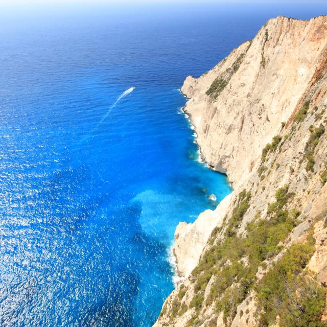 """Aerial view on Zakynthos Greece"" stock image"
