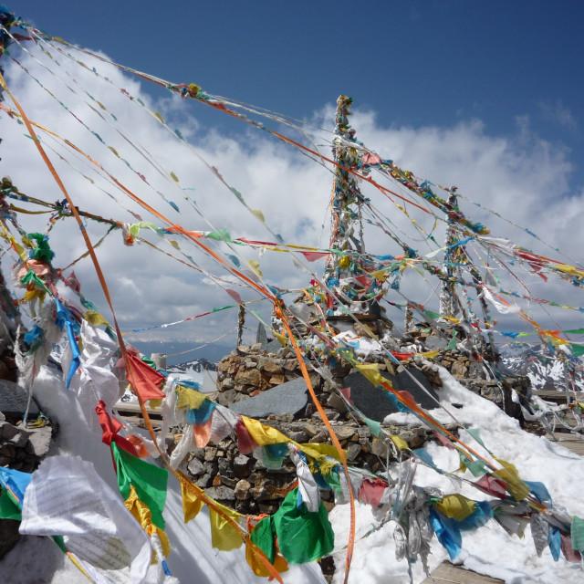 """Tibetan Prayer Flags"" stock image"