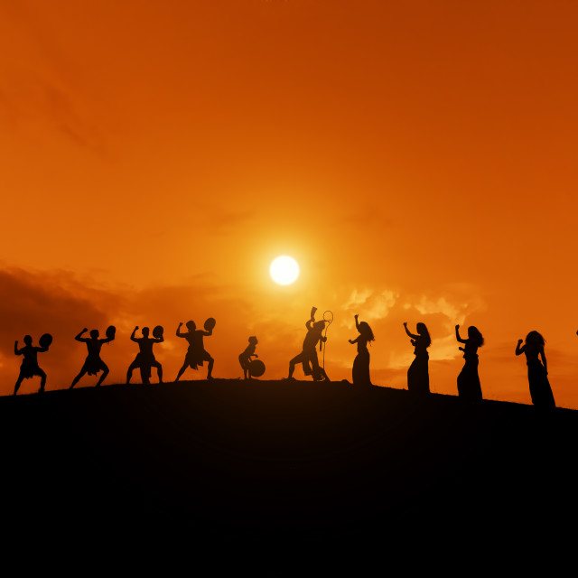 """""""shadow of the dancer"""" stock image"""