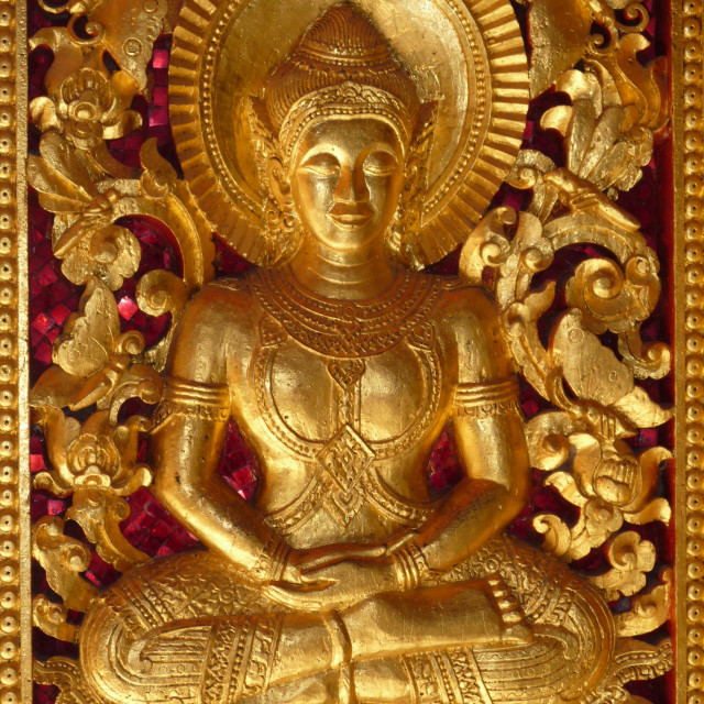 """Seated Buddha"" stock image"