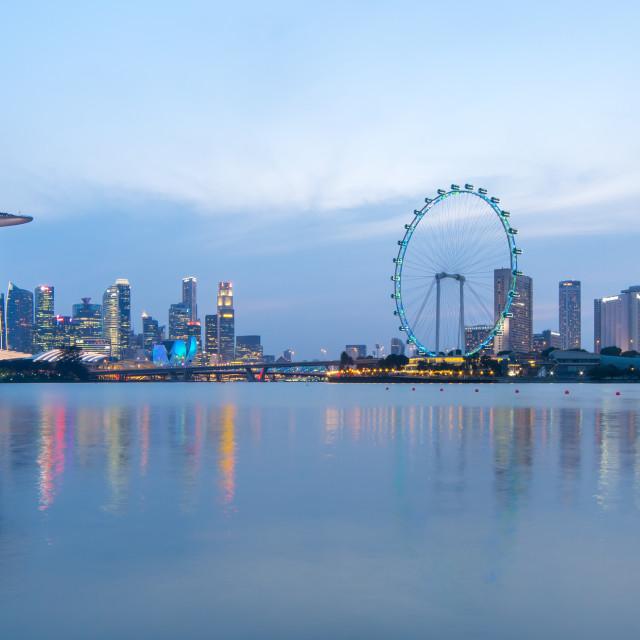 """""""Panorama Singapore city skyline"""" stock image"""