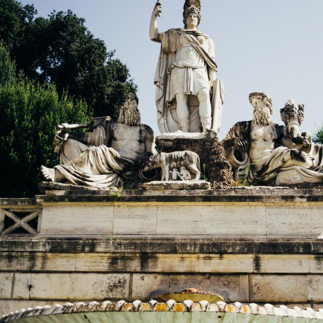 """""""Piazza Del Popolo Fountain"""" stock image"""