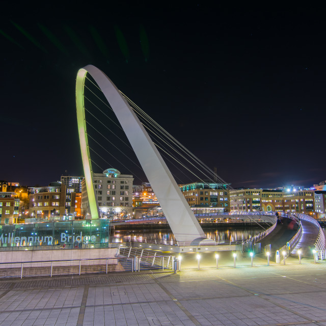 """Gateshead Millenium bridge"" stock image"