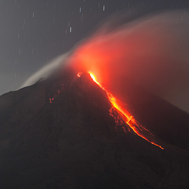 """Sinabung Volcano Eruption"" stock image"