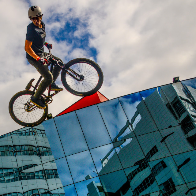 """BMX freestyle"" stock image"