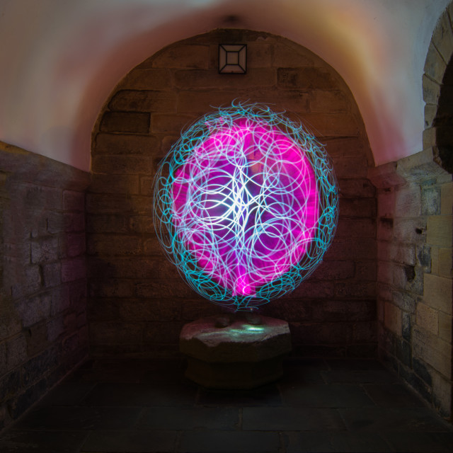 """pink light painted orb"" stock image"