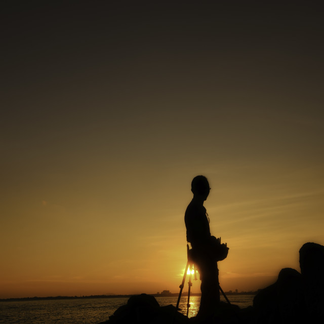 """""""Silhouette at Sunset"""" stock image"""