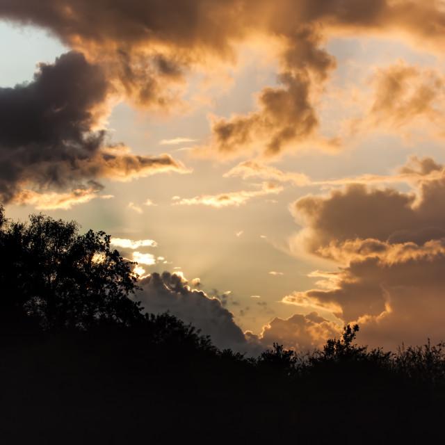 """""""Sunset Shape"""" stock image"""