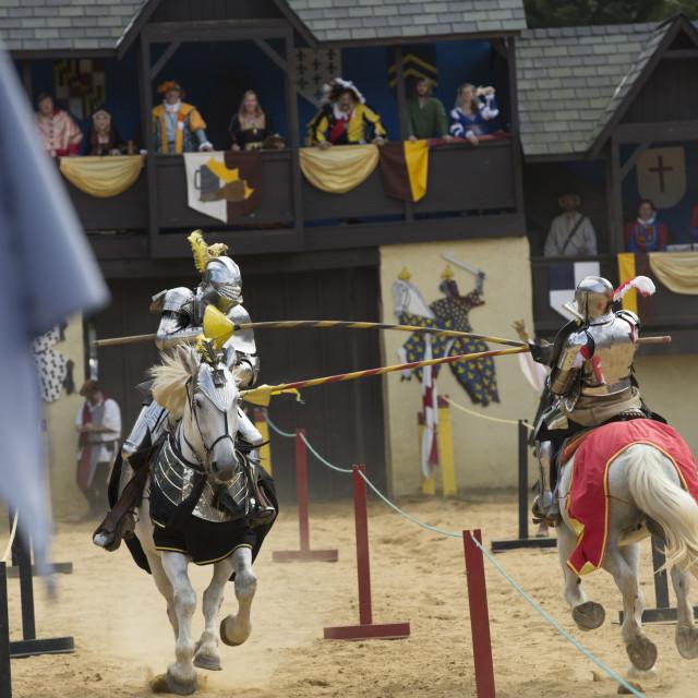 """Jousting at Renaissance Festival"" stock image"