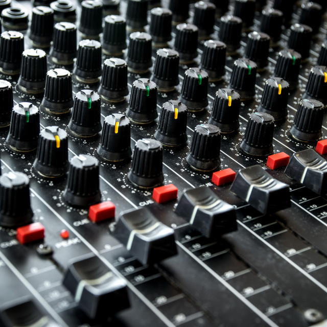 """Vintage mixing console"" stock image"