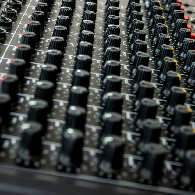 """""""Vintage mixing console"""" stock image"""