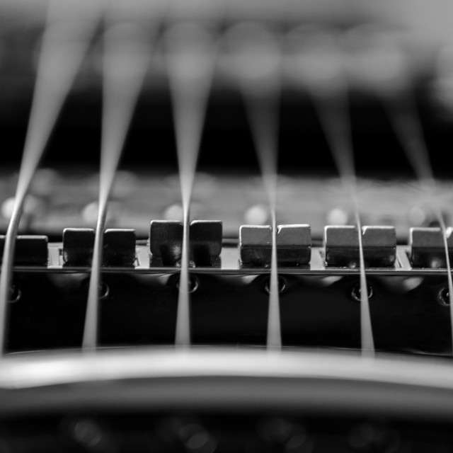 """Guitar strings"" stock image"