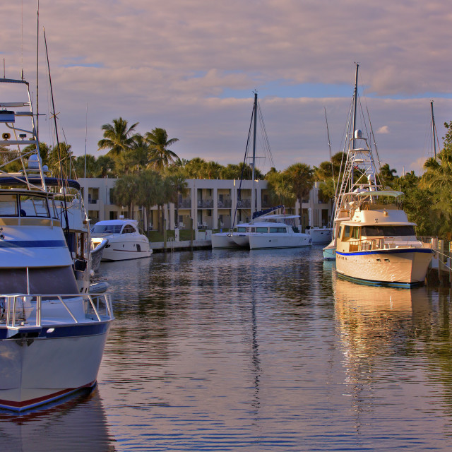 """""""Boats in afternoon sun"""" stock image"""