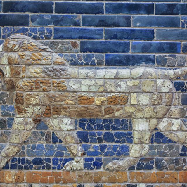 """Ancient Babylon lion"" stock image"
