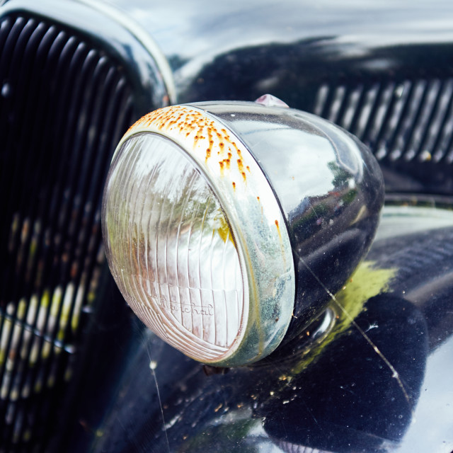 """Light of an old citroën"" stock image"