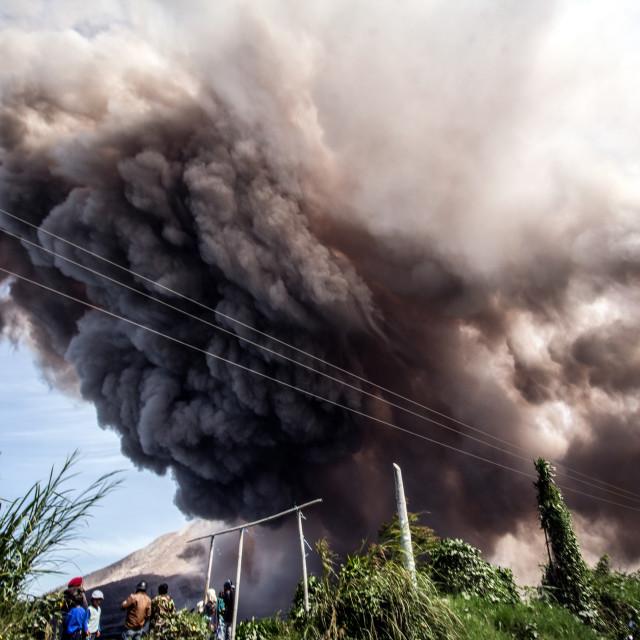 """Mount Sinabung Volcano Eruption"" stock image"