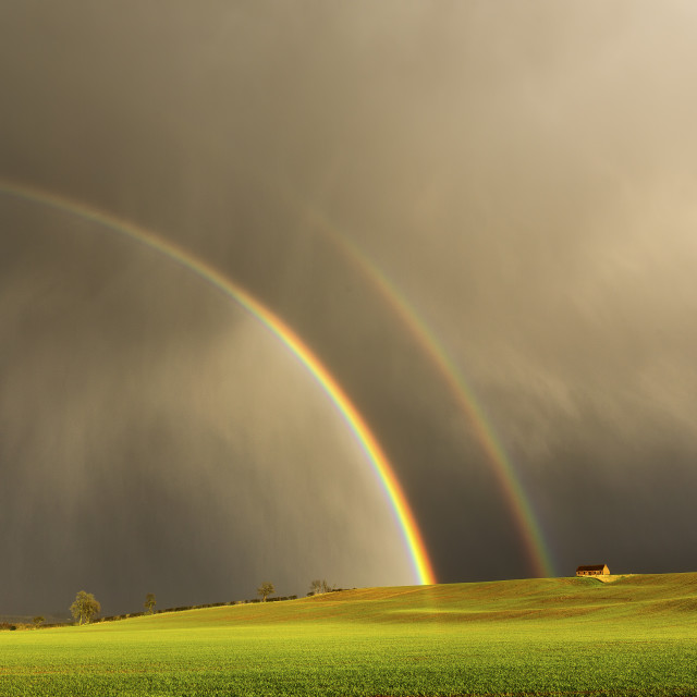 """Rural Rainbow"" stock image"
