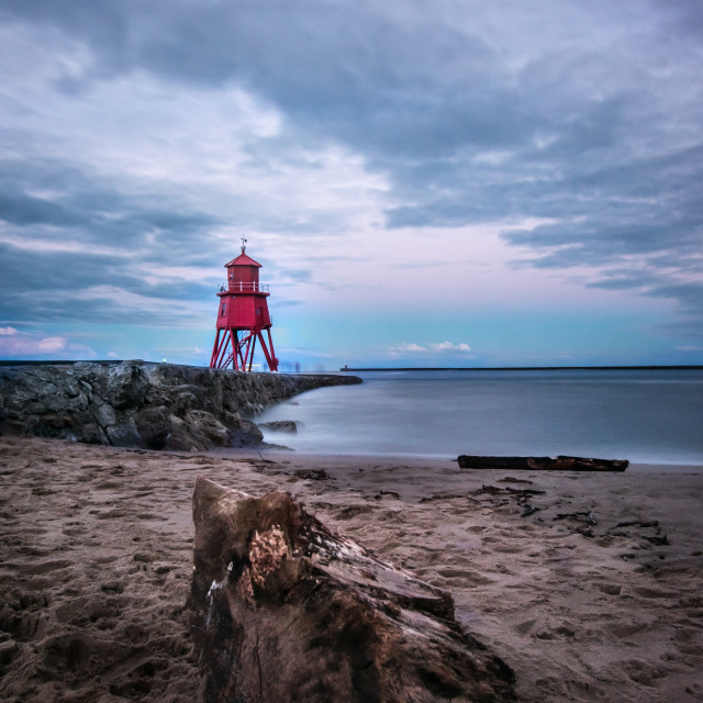 """Littlehaven and herd Groyne"" stock image"