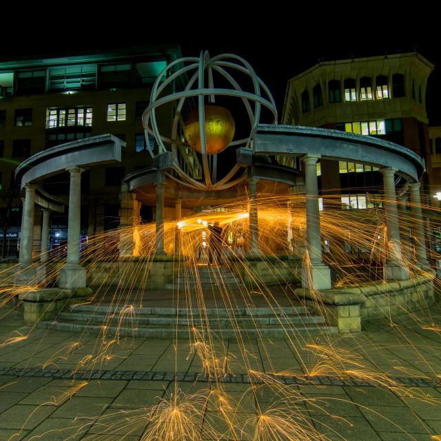 """""""The Swirle Pavilion, gateshead"""" stock image"""
