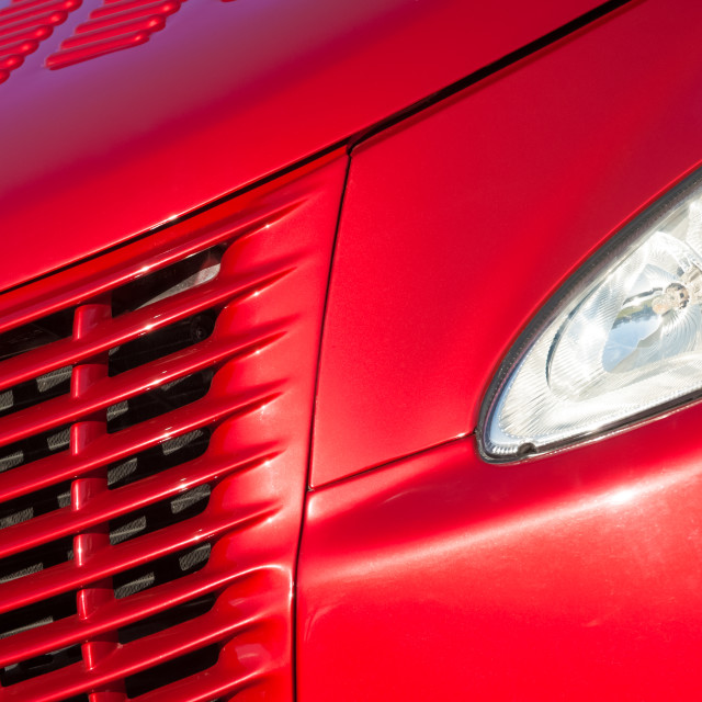 """""""cherry red grille"""" stock image"""