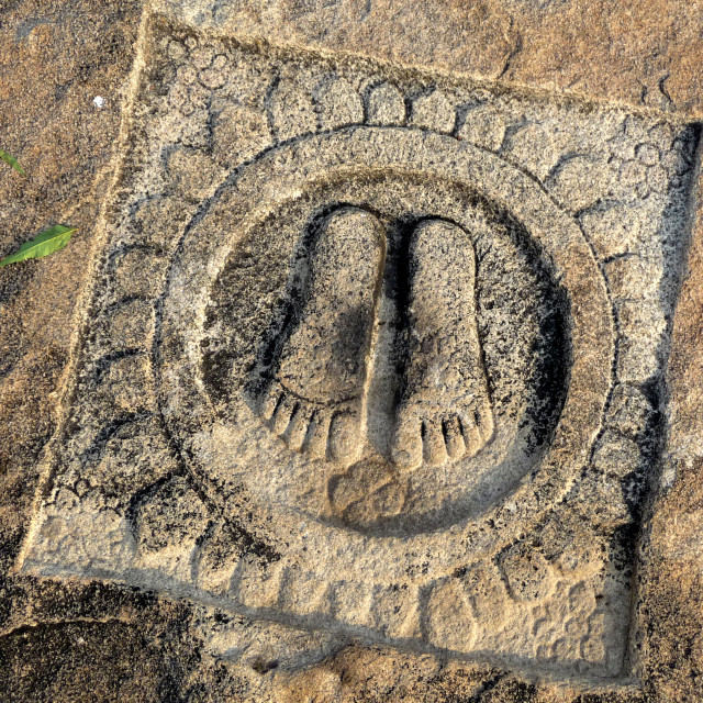 """Emperor's Footprints"" stock image"