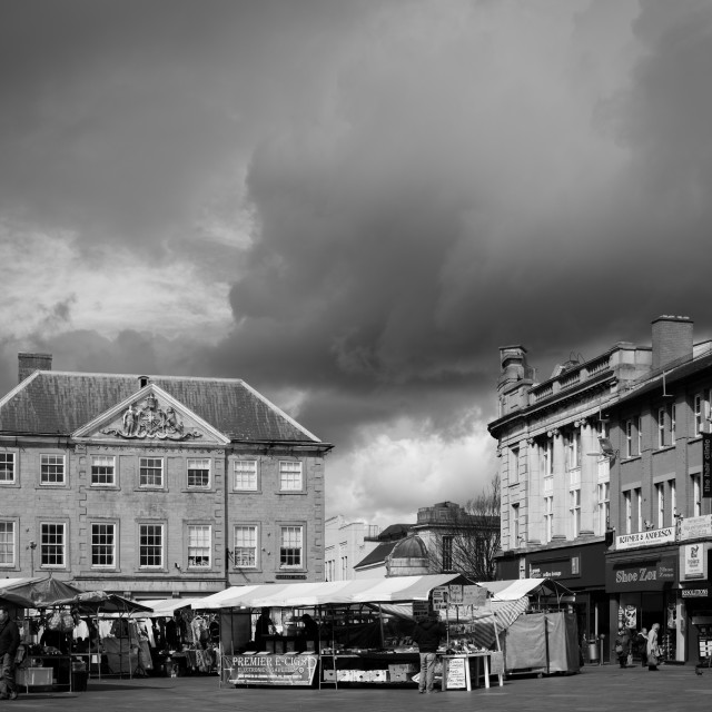 """""""Mansfield Market Place"""" stock image"""
