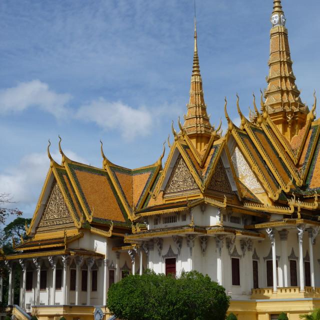 """Royal Palace, Phnom Penh"" stock image"