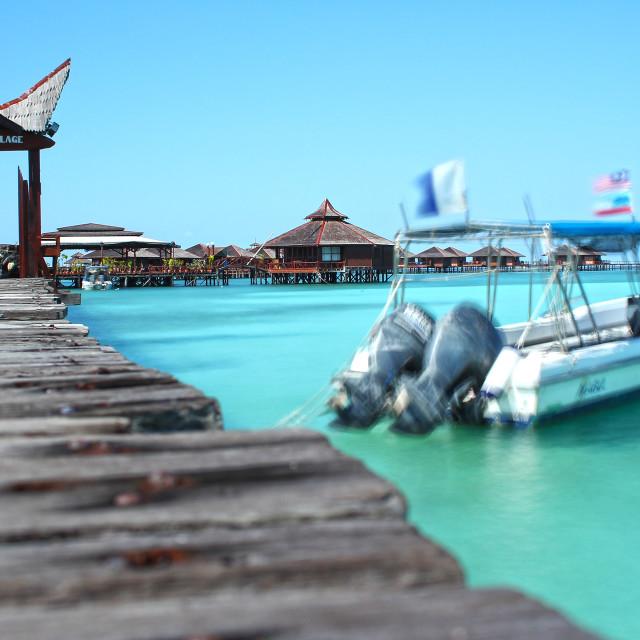 """Mabul Island, Borneo"" stock image"