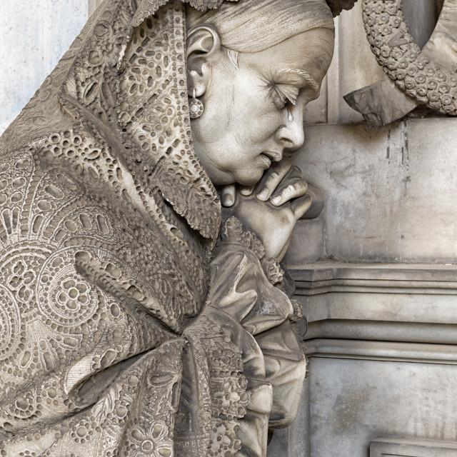 """The statues of the Staglieno cemetery in Genoa"" stock image"