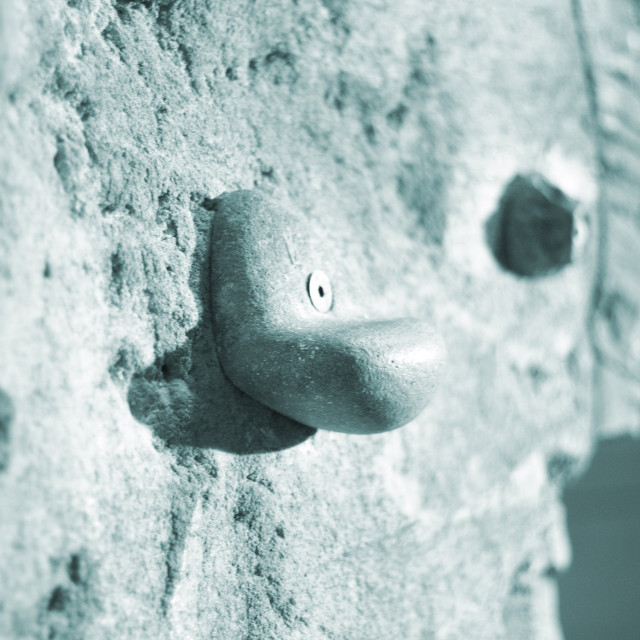 """""""Indoor climbing wall rock holds"""" stock image"""