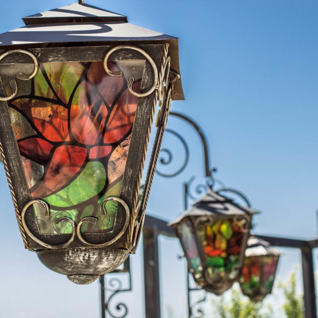 """Beautiful lamps"" stock image"
