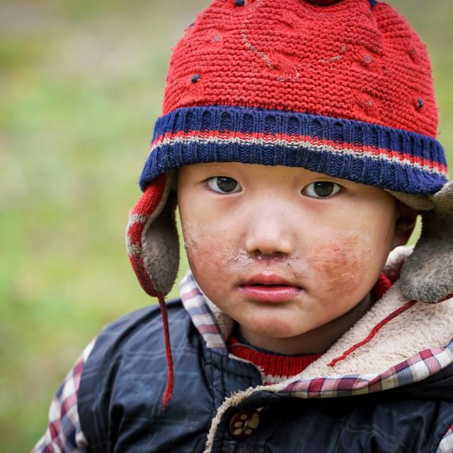 """portrait H'mong ethnic children"" stock image"