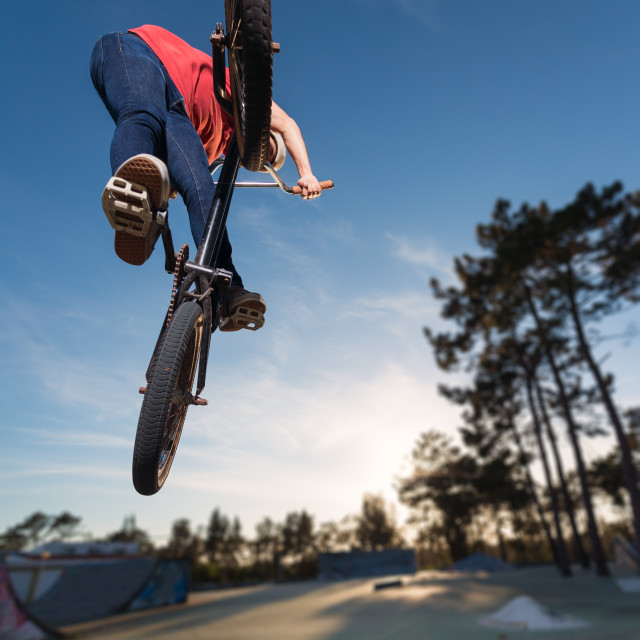 """High BMX jump"" stock image"
