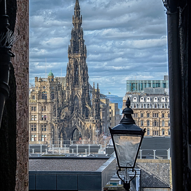"""The Scott Monument"" stock image"