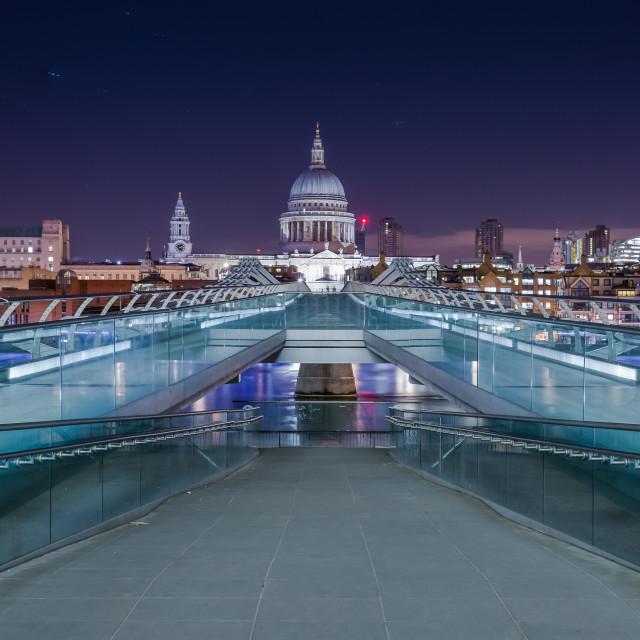 """St Paul's from Millennium Bridge"" stock image"