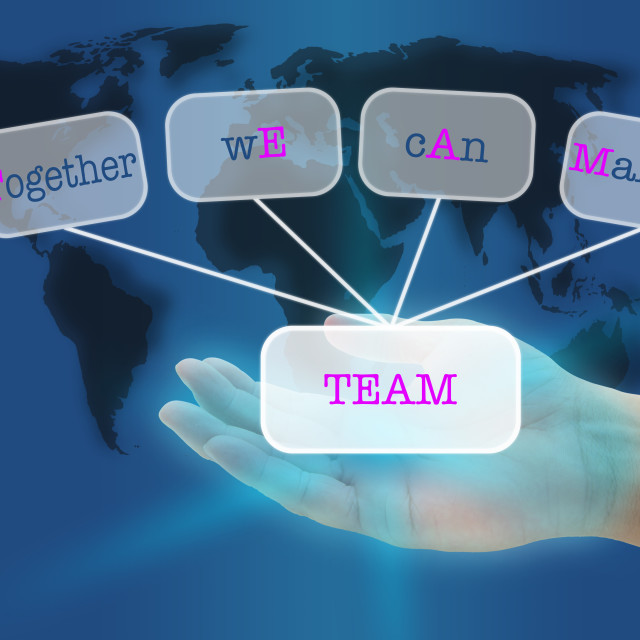 """TEAM"" stock image"