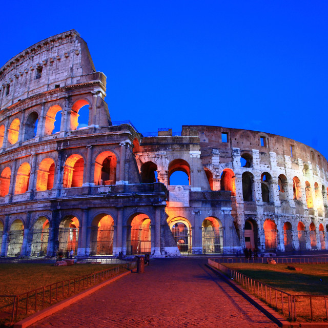 """Colosseum in Twilight"" stock image"
