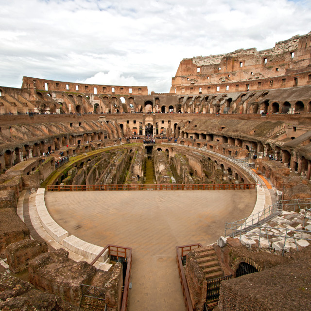 """Inside of Colosseum"" stock image"