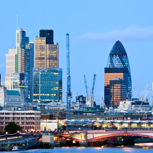 """London Skylines"" stock image"