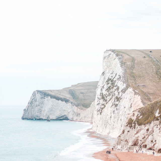 """Durdle Door Beach / Bats Head"" stock image"