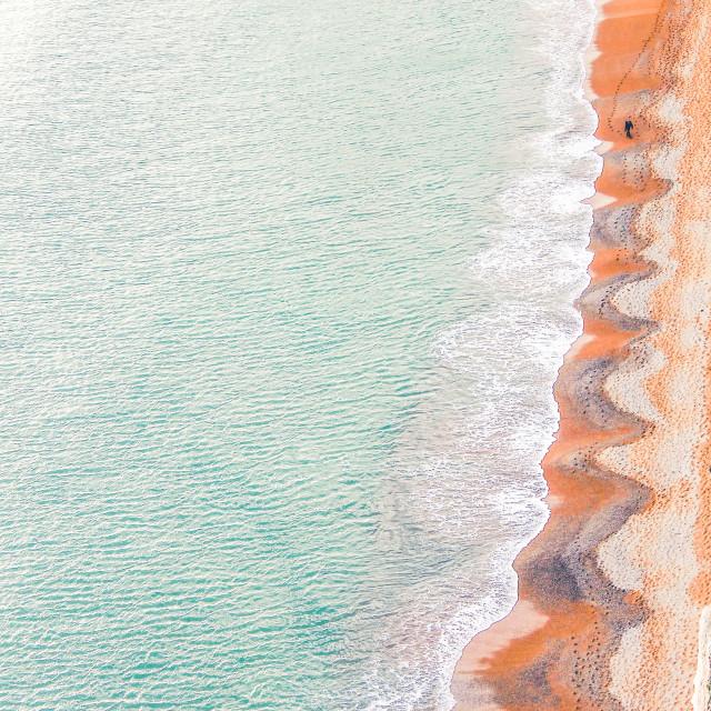 """Beach Walks"" stock image"