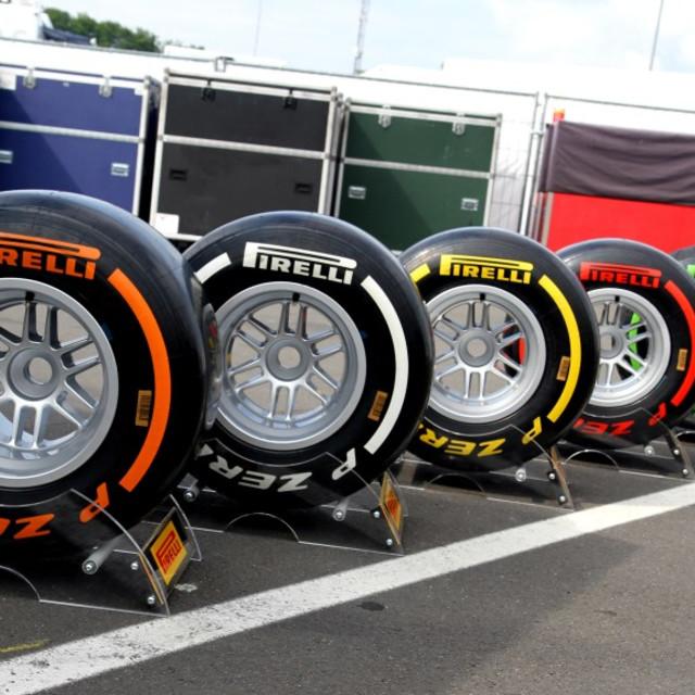 """Formula One Pirelli Tyres"" stock image"