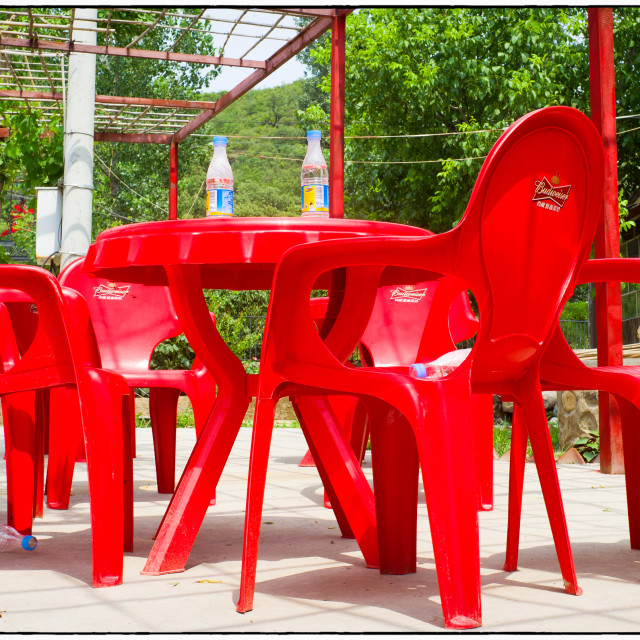 """""""Red chairs"""" stock image"""