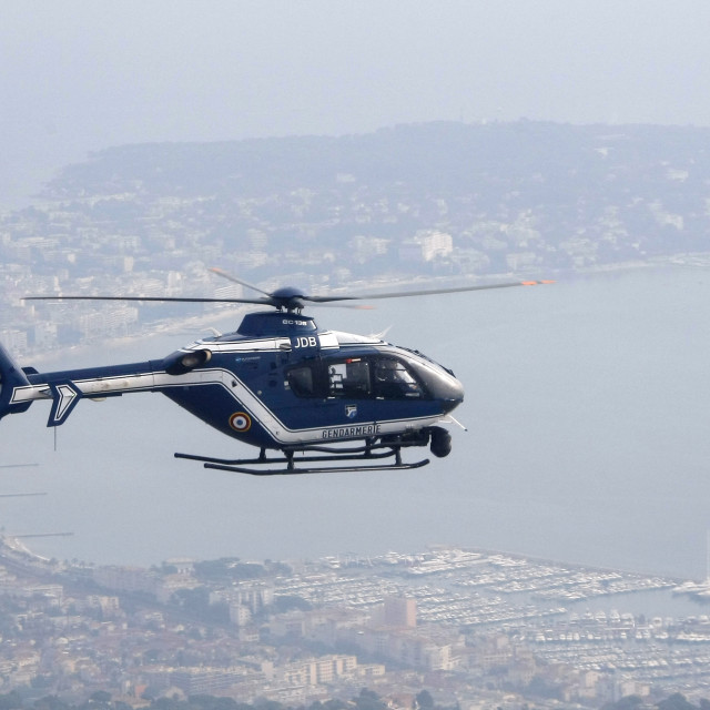 """Gendarme helicopter"" stock image"