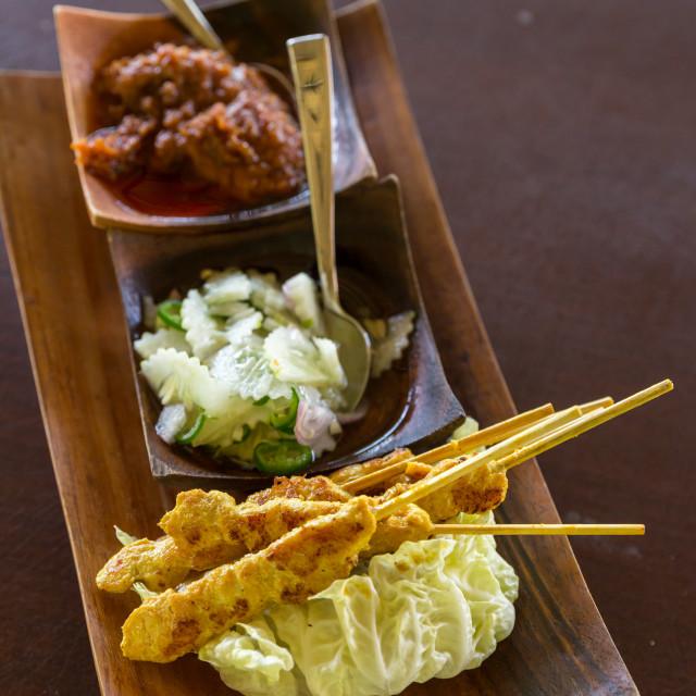 """Chicken Satay"" stock image"
