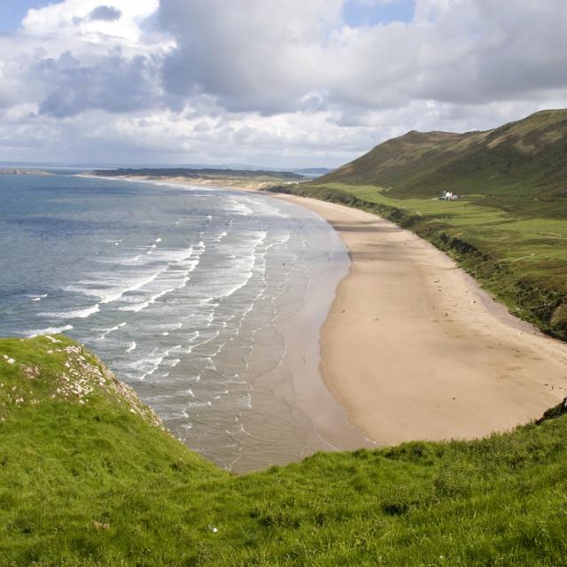 """Rhossili Beach. Wales"" stock image"