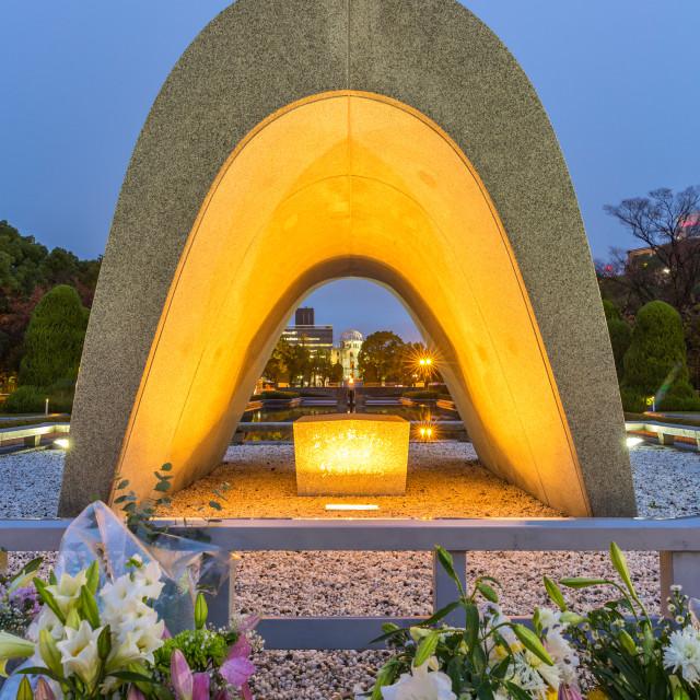 """Hiroshima Peace Memorial Park"" stock image"
