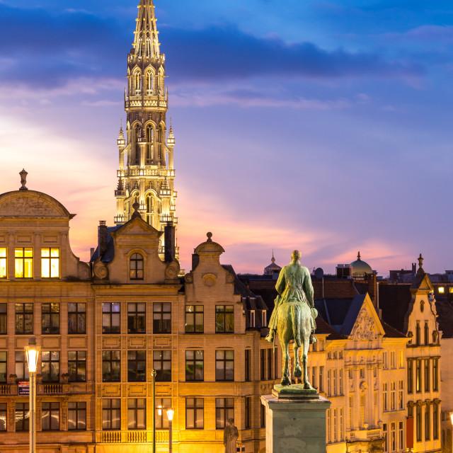 """Brussels Cityscape Belgium"" stock image"