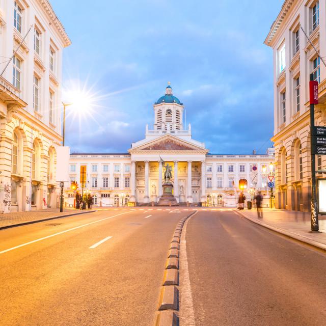 """Brussels Royal Square Belgium"" stock image"
