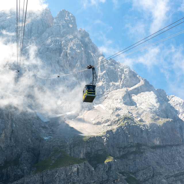 """Cable car at Zugspitze Mountain Germany"" stock image"